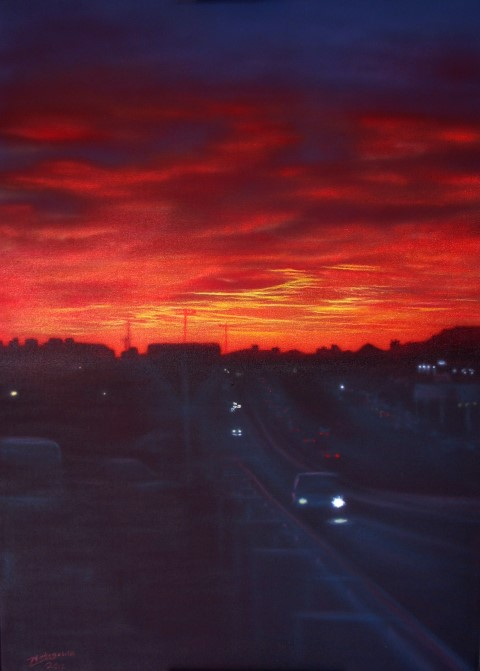 Sunset Over Crevillente