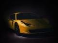 Yellow Ferrari 458