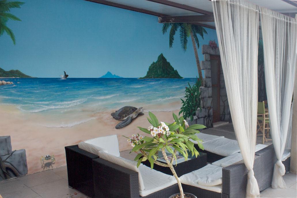Beach Mural external wall 1