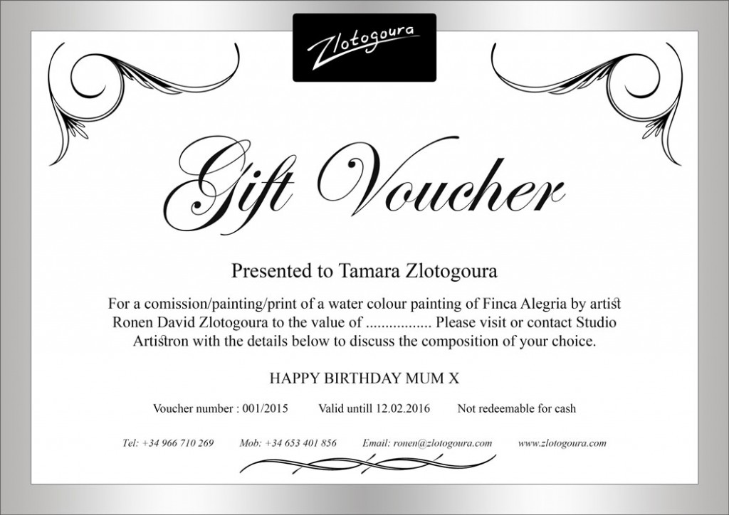 Print Your Own Voucher. Looking To Create Your Own Gift