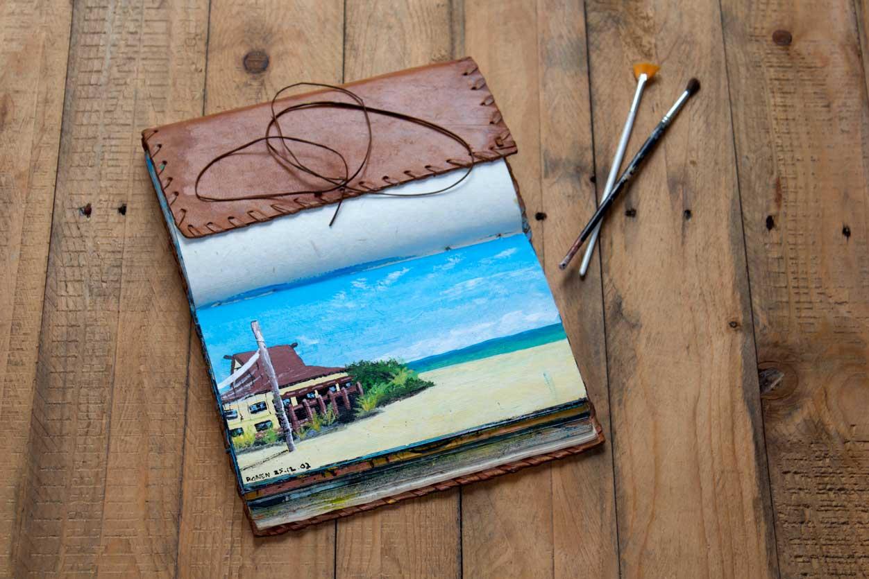 Ronen Zlotogoura traveling art journal