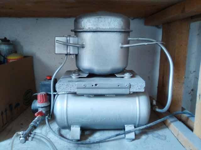 Home made air compressor